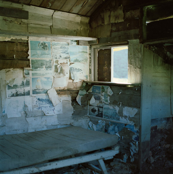 Interior of abandoned private